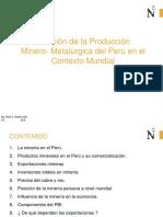 posición de La Producción Minero Metalúrgica Del Perú en El Contexto Mundial