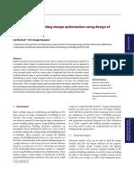 Optimization Design of Experiments Paper 2016