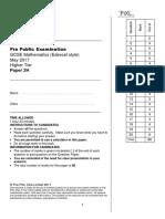 1. PiXL PPE May Edexcel 2H Question Paper