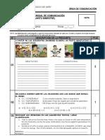 76627610 Examen Bimestral de Comunicacion IV Bimestre 2do de Secundaria