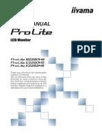iiyama ProLite 2280 Manual
