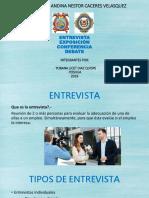 Diapositivas Entrevista, Debate, Exp, Conf.