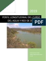 Perfil Longitudinal Del Flujo de Agua y Red de Drenaje