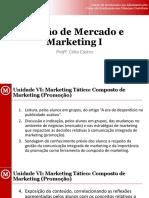 Unidade VI_Marketing Tático_Composto de Marketing_Promoção