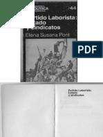 Pont. Elena Susana. Partido Laborista. Estado y Sindicatos (1)