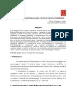 Artigo Atuaçaõ Psico Pedagogo