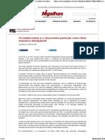 As testemunhas e o documento particular como título executivo extrajudicial - Civilizalhas.pdf