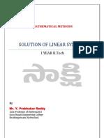 MathematicalMethodsUnit-I
