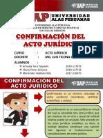 Diapositivas Confirmacion Del Acto Juridico