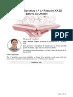 Plano de Estudos XXIX Exame de Ordem