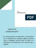 Conceptos de Tipos de Contaminación