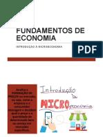 3. Fundamentos de Economia - Introdução à Microeconomia (1)