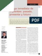 Carga Inmediata de Implantes Pasado Presente y Futuro