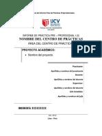 Estructura Del Informe Final de Practicas Preprofesionales