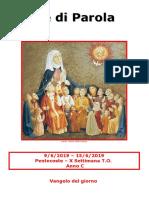Sete di Parola - Pentecoste - X Settimana T.O. - C.doc