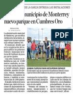 04-06-19 Inaugura municipio de Monterrey nuevo parque en Cumbres Oro