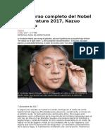 Discurso Completo Del Nobel de Literatura 2017 - Kazuo Ishiguro