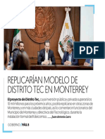 05-06-19 REPLICARÍAN MODELO DE DISTRITO TEC EN MONTERREY