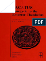 Panegyric to the Emperor Theodosius