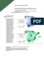 La distribución de la población española