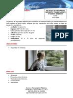 Ficha Tecnica de La Pelicula de Seguridad Reflectiv Transparente Para Vidrios