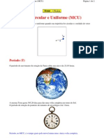 Física - ProfPateta - Mecânica - Movimento Circular e Uniforme (MCU)