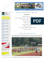 SAFL 2010 Week 1 Newsletter