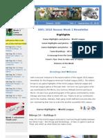 SAFL 2010 Week 2 Newsletter