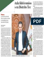 05-06-19 Monterrey instala fideicomiso de inversiones en Distrito Tec