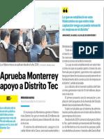 05-06-19 Aprueba Monterrey apoyo a Distrito Tec