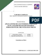 Números complejos en circuitos eléctricos