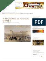 A Maçonaria Em Portugal (Parte I) - Freemason.pt
