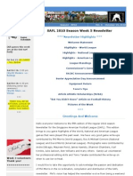 SAFL 2010 Week 5 Newsletter
