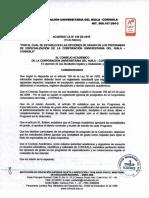 Modalidades de Grado Acuerdo CA 145 de 2019