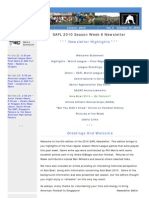 SAFL 2010 Week 6 Newsletter