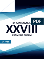 1º Simulado - 2ª Fase - XXVIII - Direito Tributário