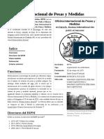 Oficina Internacional de Pesas y Medidas