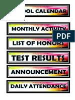 For Bulletin Board