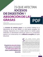 Factores Que Afectan a Los Procesos de Digestion y Absorcion de Las Grasas