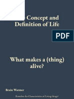 the concept and definition of life