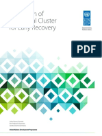 UNDP-evaluation of the Global Cluster for Early Recovery - 2018