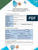 Guía de Actividades y Rúbrica de Evaluación – Fase 2 –Componentes de La Cavidad Oral