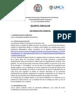V Circular - XVII Jornadas Interescuelas 2019