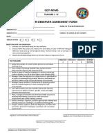 Inter Observer Agreement Form Teacher I III FINAL (2)