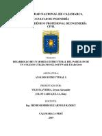 Desarrollo de Un Modelo Estructural Del Pabellon de Un Colegio Utilizando Etabs2016