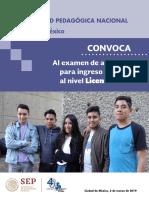 Convocatorias Licenciatura UPNcdmx Final 2019