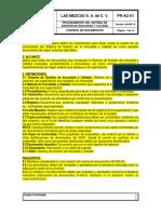 Pr-Ac-01 Control de Documentos