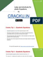 Quadratic Equations Formulas