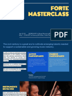 [SLIDE] Forte Masterclass - Info