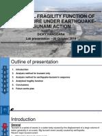 Analytical tsunami fragility function